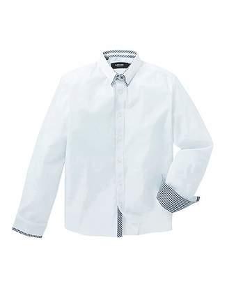 Black Label Plain Double Collar Shirt L