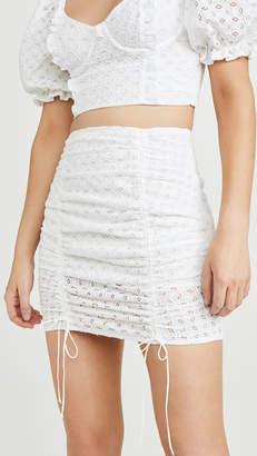 For Love & Lemons Montauk Miniskirt