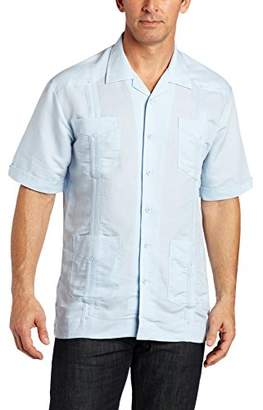 Cubavera Men's Short Sleeve Traditional Cuban Camp Guayabera Shirt