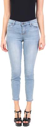 Celebrity Pink Jeans Women's Fashion Blue Jeans | Ankle Skinny | Middle Rise | Button-Zipper Fly with Shadow Back and 5 Pocket and Whisker Detail | Vintage Wash |