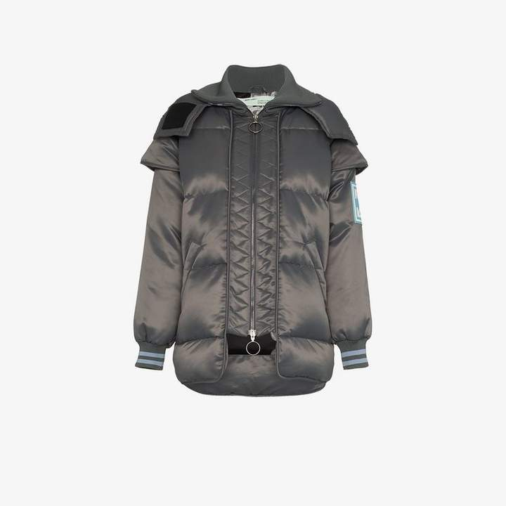 Off White hooded puffer jacket