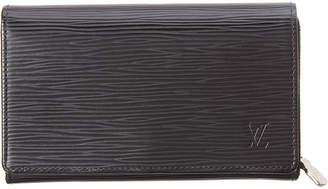 Louis Vuitton Black Epi Leather Tresor Wallet