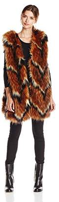 Tracy Reese Women's Contrast Foxy Fur Vest $354 thestylecure.com