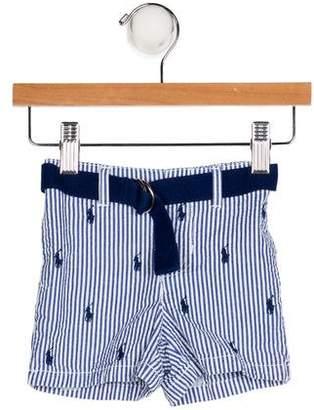 Ralph Lauren Belted Seersucker Shorts