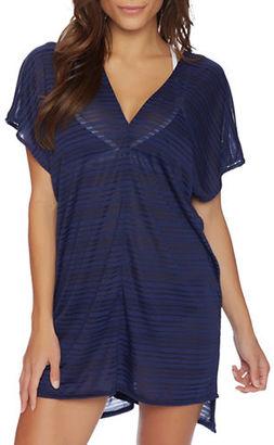 Nautica Soho Stripe V-Neck Dress $94 thestylecure.com