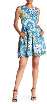 Taylor Floral Print Fit & Flare Dress