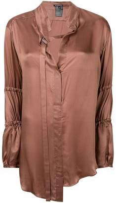 Ann Demeulemeester asymmetric longline shirt