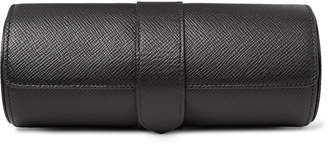 Panama Cross-Grain Leather Watch Roll