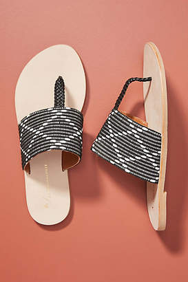 Anthropologie Asher Beaded Sandals
