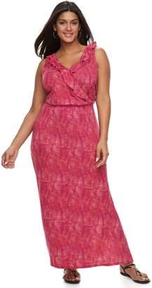 Apt. 9 Plus Size Ruffle Maxi Dress