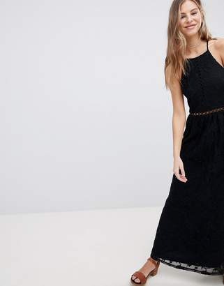Hollister Sheer Lace Maxi Dress
