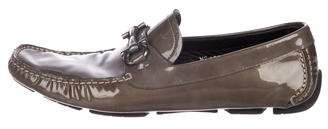Salvatore Ferragamo Patent-Leather Gancini Loafers