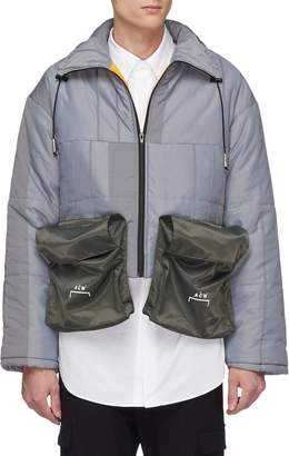 A-Cold-Wall* Detachable pouch colourblock cropped puffer jacket