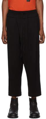 Julius Black Tucked Baggy Lounge Pants