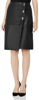 REISS Abby Leather Skirt $500 thestylecure.com