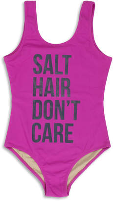 Shade Critters Salt Hair Don't Care One-Piece Swimsuit, Size 7-14