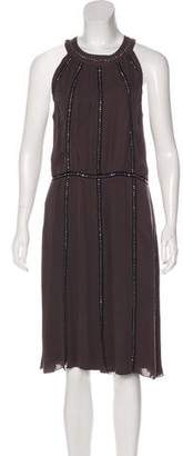 L'Agence Silk Studded Dress