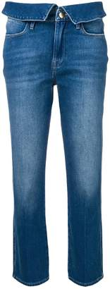 Frame foldover waist jeans