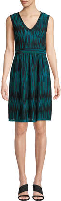 M Missoni Two-Tone Devore Velvet Sleeveless Dress