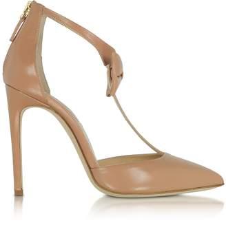 Olgana Paris La Garconne Nude Leather High-Heel Pump