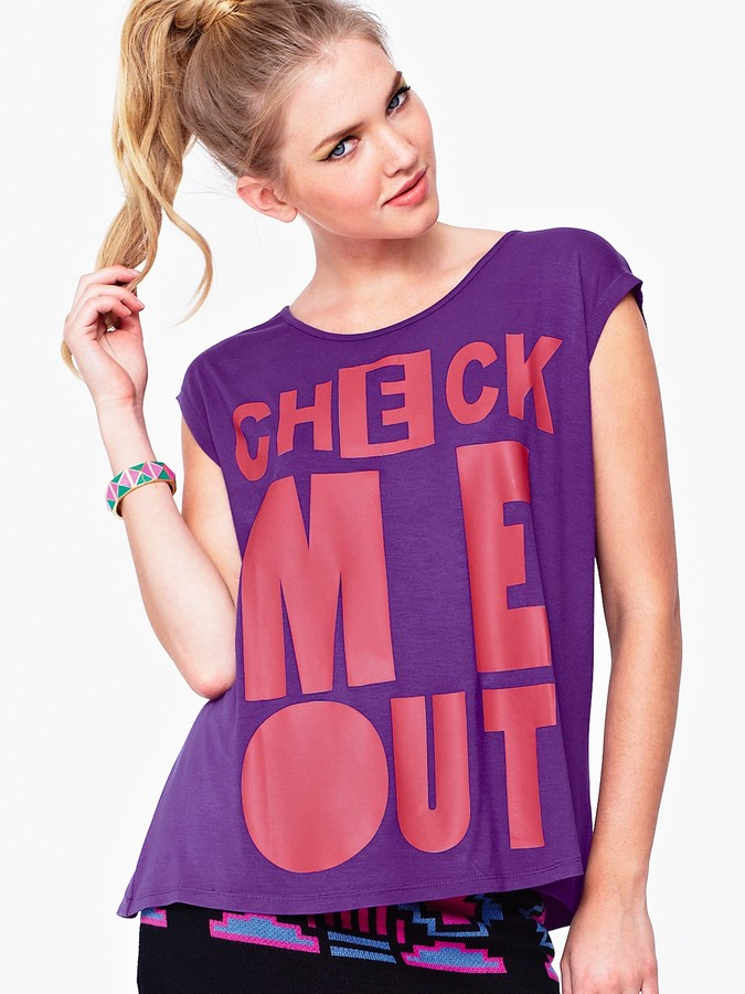 Love Label Check Me Out Printed T-shirt