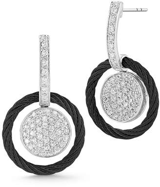 Alor 18k Diamond Pavé Circle Drop Earrings