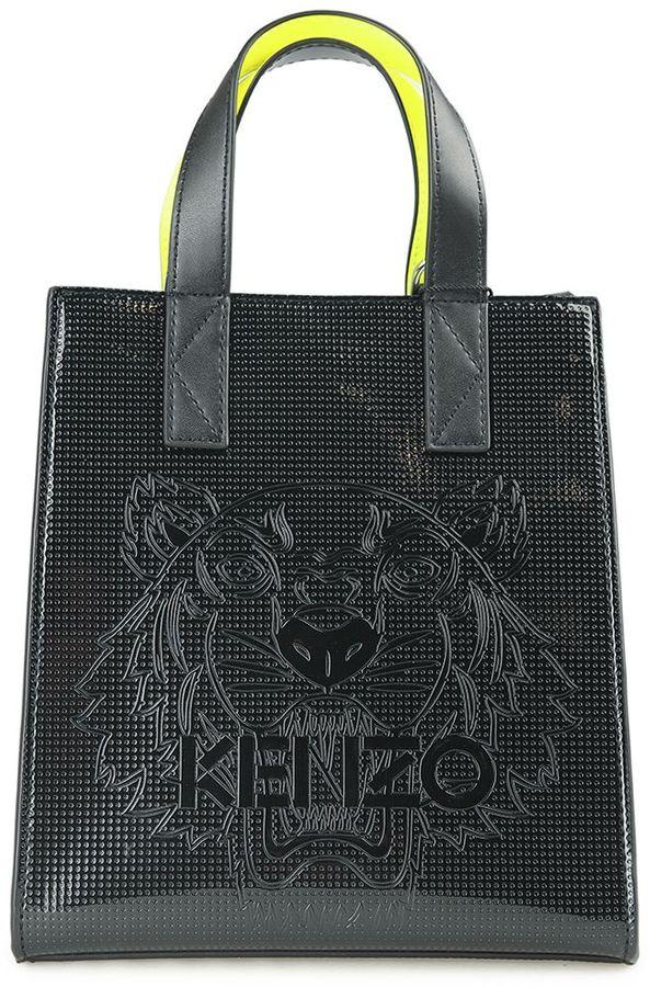 KenzoKenzo Mini Tiger Metallic-pvc Tote