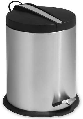 Honey-Can-Do 5-Liter Round Stainless Steel Step Trash Can