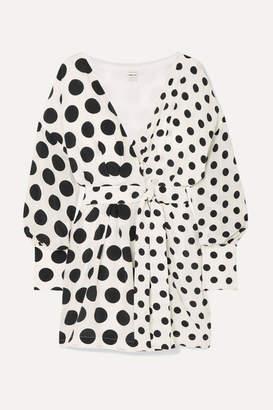 Mother of Pearl + Net Sustain And Bbc Earth Julia Polka-dot Organic Silk Wrap Dress - White