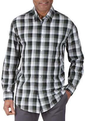 Haggar Long Sleeve Herringbone Check Shirt