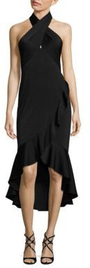 Shoshanna MIDNIGHT Ruffled Trim Dress $605 thestylecure.com