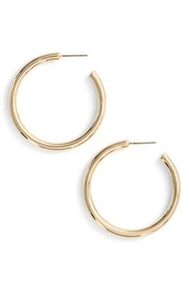 Women's Halogen Medium Sleek Tube Hoop Earrings $35 thestylecure.com