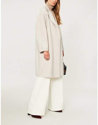Max Mara Open-front cashmere wrap coat