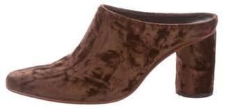 Rachel Comey Velvet Round-Toe Mules