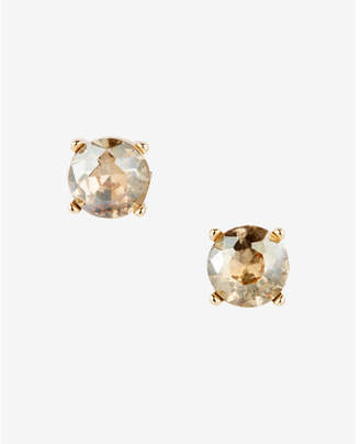 Express Round Rhinestone Post Earrings $12.90 thestylecure.com