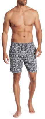 7 Diamonds Drawstring Printed Shorts