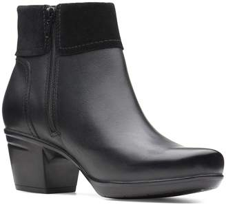 Clarks Collection By Emslie Twist Leather Ankle Boots