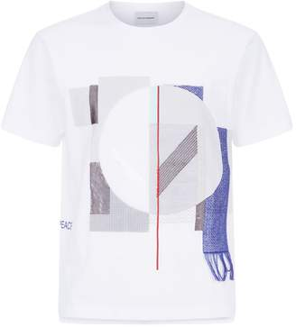 Solid Homme Peace Textural Shapes T-Shirt