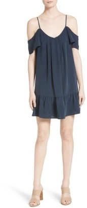 Women's Joie Stellara Cold Shoulder Silk Dress $298 thestylecure.com