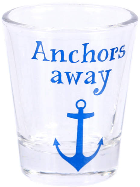 'Anchors Away' Shot Glass - Set of Four