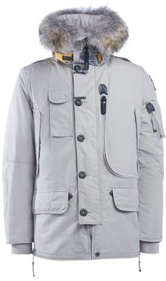 Parajumpers Kodiak Long Ivory Parka With Fur Trimmed Hood