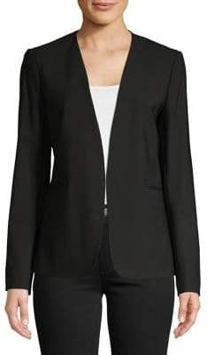 Theory Open Front Long Sleeve Blazer