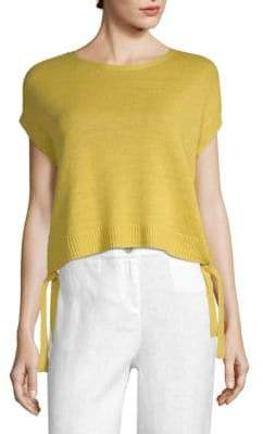 Eileen Fisher Organic Linen Knit Short Sleeve Sweater