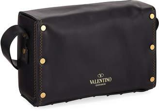 Valentino Studded and Stitched Shoulder Bag