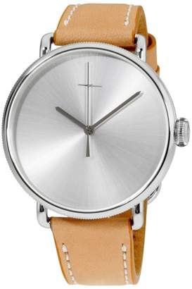 Shinola The Canfield Bolt 20052579 Stainless Steel & Leather Quartz 43mm Mens Watch