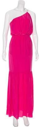 Halston One-Shoulder Maxi Dress