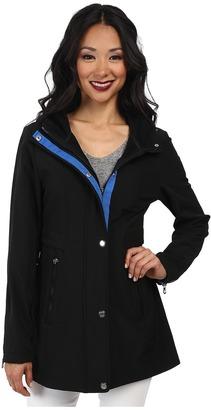 Nautica Hooded Mesh Trim Softshell Jacket $160 thestylecure.com