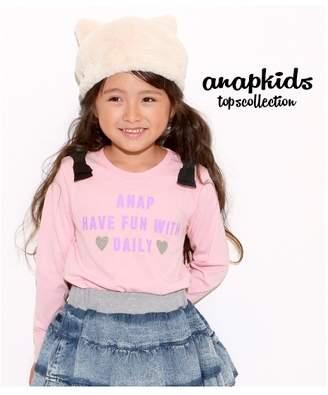 ANAP (アナップ) - ANAP KIDS 肩リボンロンT ピンク