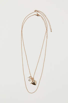 H&M 2-pack Necklaces with Pendants - Gold