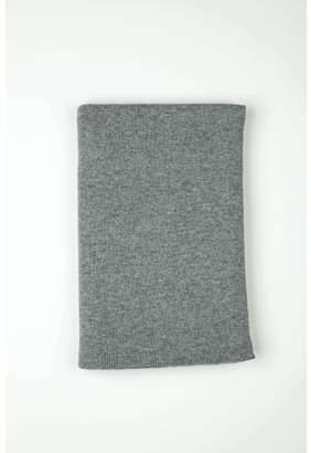 Johnstons of Elgin Light Grey Gauzy Knit Cashmere Throw